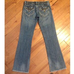 Miss Me Jeans RhinestonesGladstone Bootcut Size 25